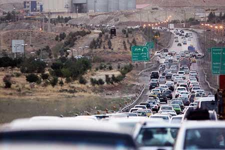 ترافیک نیمه سنگین در هراز و چالوس
